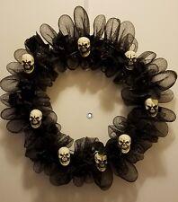 Skulls and Roses Wreath - Halloween - Purple & Black