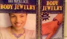 Body Glitter Tattoo Stickr Jewelry BAT NECKLACE & BRACELET Halloween Costume Set