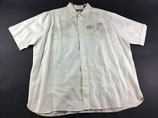 Cubavera Carte Post Mens White Short Sleeve Button Front Shirt Size 2XL