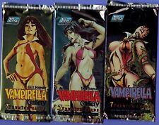 3 1995 Topps Vampirella Gallery Trading Card Packs wrapper variation gold/chase