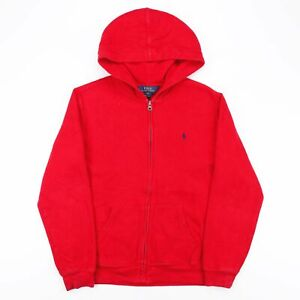 Vintage POLO RALPH LAUREN  Red Sports Round Neck Hoodie Boys XL