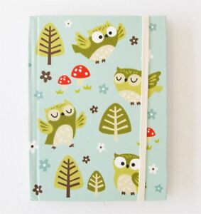 Sass & Belle Spring Forest OWL Flowers Design Note Book Jotter Writing