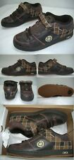 New Mens 7.5 Circa 207 Se Brown Plaid Leather SkateBoard Shoes $70