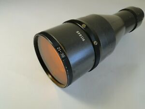 Early USSR FS-2 ( ФС-2) 4.5/300 mm  lens with 16 blades diaphragm.