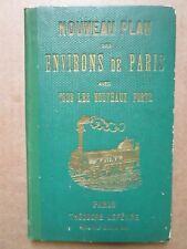 NOUVEAU PLAN DES ENVIRONS DE PARIS avec tous les nouveaux forts, 1865.