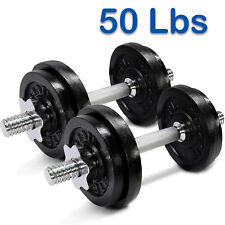 Yes4All 50 Lbs Adjustable Dumbbells Weight Set Solid Cast Iron Dumbbell Home Gym