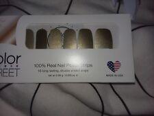 Color Street 100% Real Nail Polish Strips GOLD COAST