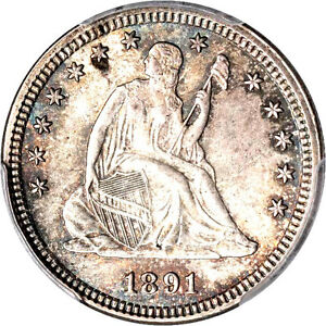1891 25C MS65 PCGS - ONLY 31 IN HIGHER GRADE-Liberty Seated