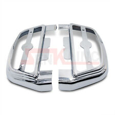 Chrome Clear Lighted Passenger Footrest Floorboard Cover Kit For Harley Softail