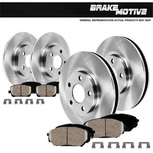 Front And Rear OE Disc Brake Rotors And Ceramic Pads For 2010 - 2013 Kia Forte