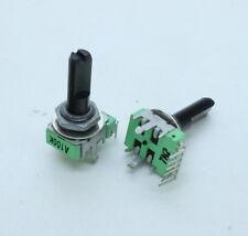 2 x 12mm Alpha A100K 100K Audio Taper Potentiometer Dual Gang D Shaft