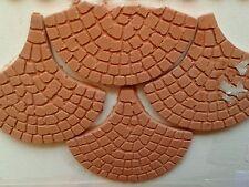 8 pz pave' 50mm terracotta pavimento minuterie presepe miniature  crib