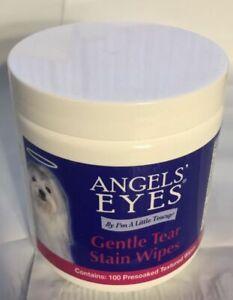 Angels Eyes Plus gentle tear stain wipes Dog Eye 100 count presoaked wipe bottle