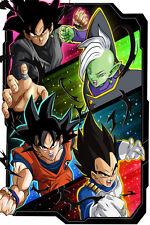 Dragon Ball Super Zamasu Black Goku Vegeta 12in x 18in Poster Free Shipping