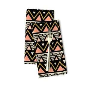 Tribal Boho Southwest Geometric Cotton Dinner Napkins by Roostery Set of 2