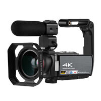 4K Camcorder HD Video 1080P 60FPS WiFi & IR IPS 16x Zoom Wide Angle Lens Camera