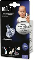 40 New Braun Probe Covers Thermoscan Ear Thermometer Replacement Lens Filter Cap