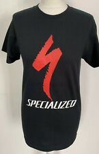 Specialized Black T-Shirt Tee Cycling MTB Mountain Bike Hoody Printed Jersey Top