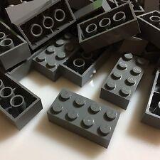 100 NEW LEGO 2x4 Dark Stone Grey Bricks (ID 3001) BULK Blocks gray
