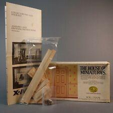 X-ACTO HOUSE OF MINIATURES Dollhouse WOOD DOOR  KIT (#41215) Vintage