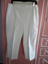 a98987787a4 JMS Just My Size White Stretch Denim Capri Pant Size 18w-20w Elastic Back