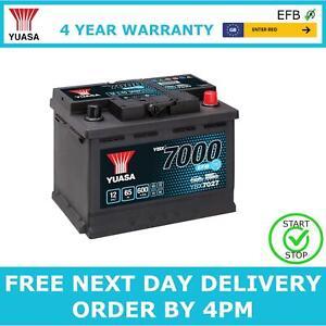 Yuasa YBX7027 Car Battery 12V EFB Start Stop 4 Yr Warranty Type 027