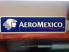 """AeroMexico Airlines Metal sign  6"""" x 24"""""""