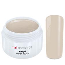 FRENCH Color Gel NATUR French Farbgel Modellage Nail Art Design Nagel Beige Tips