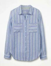 NEW Boden LINEN SHIRT - Blue Stripe - Size 20 UK - 16 US - 100% linen - rrp £55