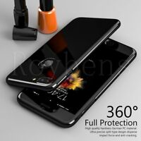 360° Shockproof Front Back Mirror Case Tempered Glass Cover For iPhone 7 Plus 6s