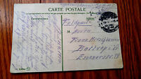 """VERY RARE WWI TURKEY 1916 FELD POST """"STAMPLESS"""" POST CARD, CONSTANTINOPLE TO GER"""