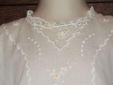 DARLING Antique Edwardian Toddler Dress Batiste & Irish Crochet Lace Embroidery