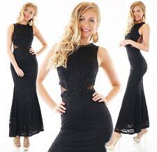 Noche vestido Maxi vestido de punta häkelkleid damas de honor red de perlas espalda libre
