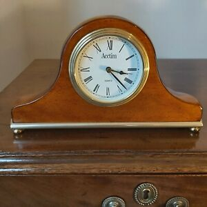 Acctim Polished Wood Mantel Clock