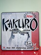 BRAND NEW Kakuro Puzzle Tin (more addictive than Sudoku) - IDEAL GIFT