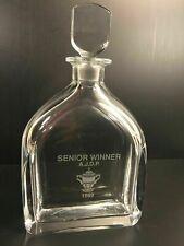 Orrefors Crystal Decanter Vintage Senior Winner AJDP Trophy