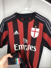 Adidas Fly Emirates Milan Soccer Climacool Striped Jersey Shirt Adult Small