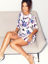 BNWT Rochelle Humes Floral Frill Flippy Hem Evening Occasion Dress Size 20 NEW