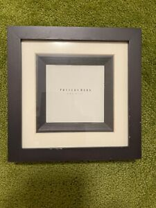 NEW Pottery Barn Square Black and White Frame 4 x 4 Inch Opening, Doubler Matted