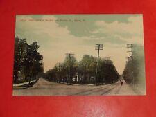 AC925 Vintage 1911 Postcard Intersection of Buchtel and Market Street Akron Ohio