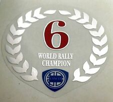 LANCIA DELTA HF INTEGRALE LORBEERKRANZ TRANSPARENT 6 TIMES CHAMPION STICKER