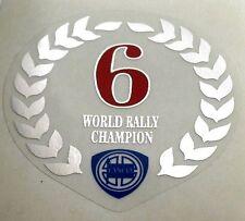 Lancia Delta HF Integrale lorbeerkranz transparente 6 times Champion sticker