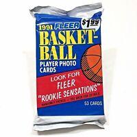 1991 Fleer Basketball 53 Card Sealed Jumbo Pack-Free Shipping