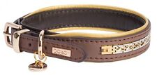 """DO&G Precious Metals Brown & Gold Collar - Fits 12"""" to 15"""" Neck"""