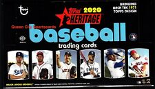2020 Topps Heritage Baseball Factory Sealed Hobby Box