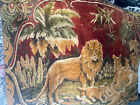 """Vintage Lion Panthera Leo.Lioness & Cubs Jungle Area Rug Wall 70x47 1/2"""" Hanging"""