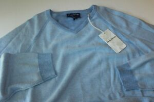 Tommy Bahama Sweater Make Mine A Double Reversible Blue Yonder Small S