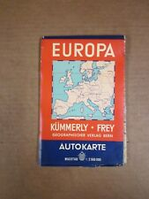 Vintage Road Map - Published in Switzerland - Europe -