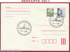 ITALIA FDC MAGYAR POST CASTELLI CASTELLO PIOBBICO PESARO 1985 ANNUL. TORINO T484