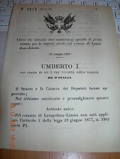 REGIO DECRETO 1879 COMMISSIONE SPECIALE IMPOSTE DIRETTE COMUNE LAMPEDUSA LINOSA